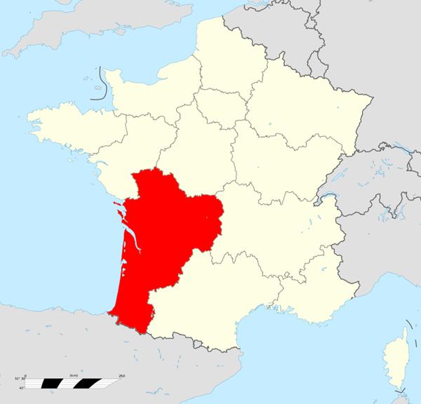 Carte France Nouvelle-Aquitaine